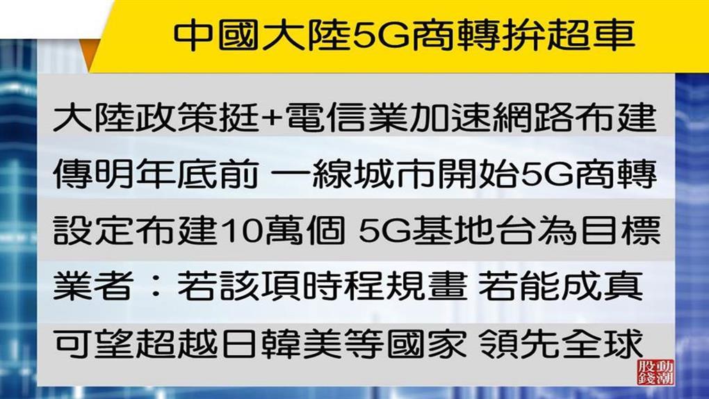 【股動分析】大陸5G拚超車 一股挑戰近2年新高