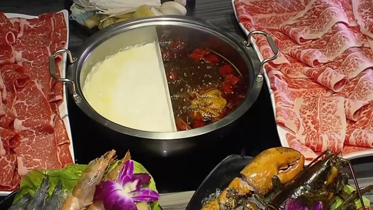 肉片涮不完! 火鍋店主打1公斤澎湃肉盤