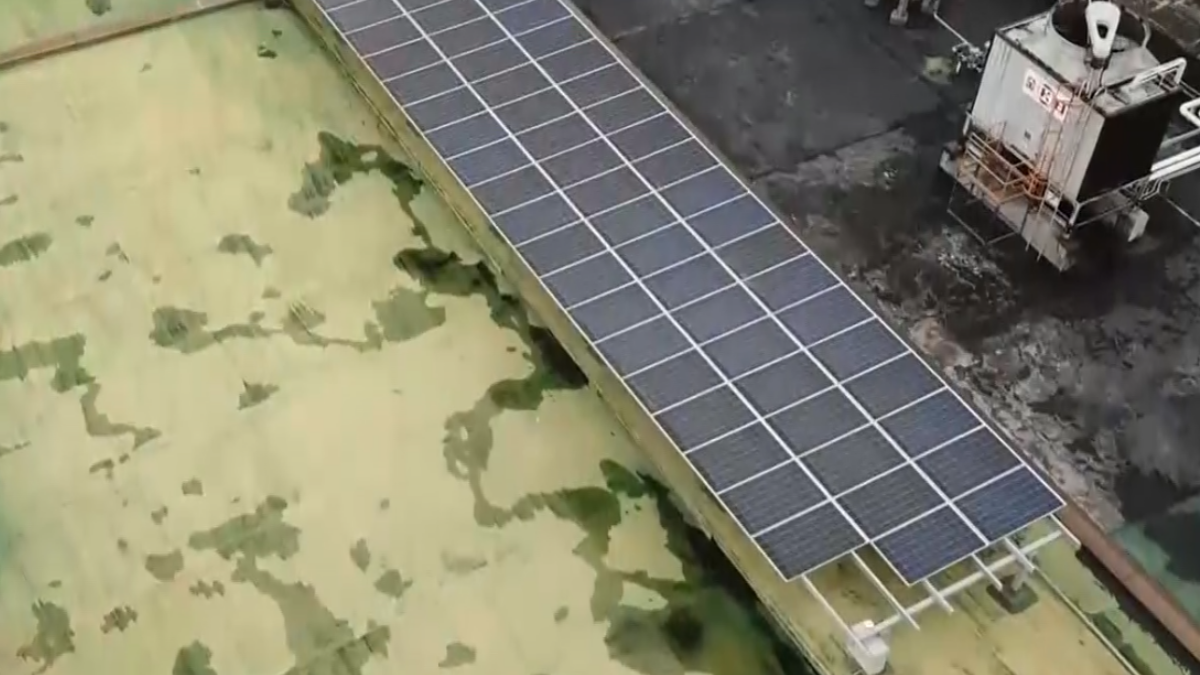 台塑廠房屋頂自種電 空拍鏡頭直擊!