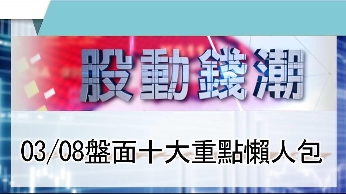 【股動錢潮】明泰私募1億股佳世達認購 將成第2大股東 03/08盤面重點懶人包