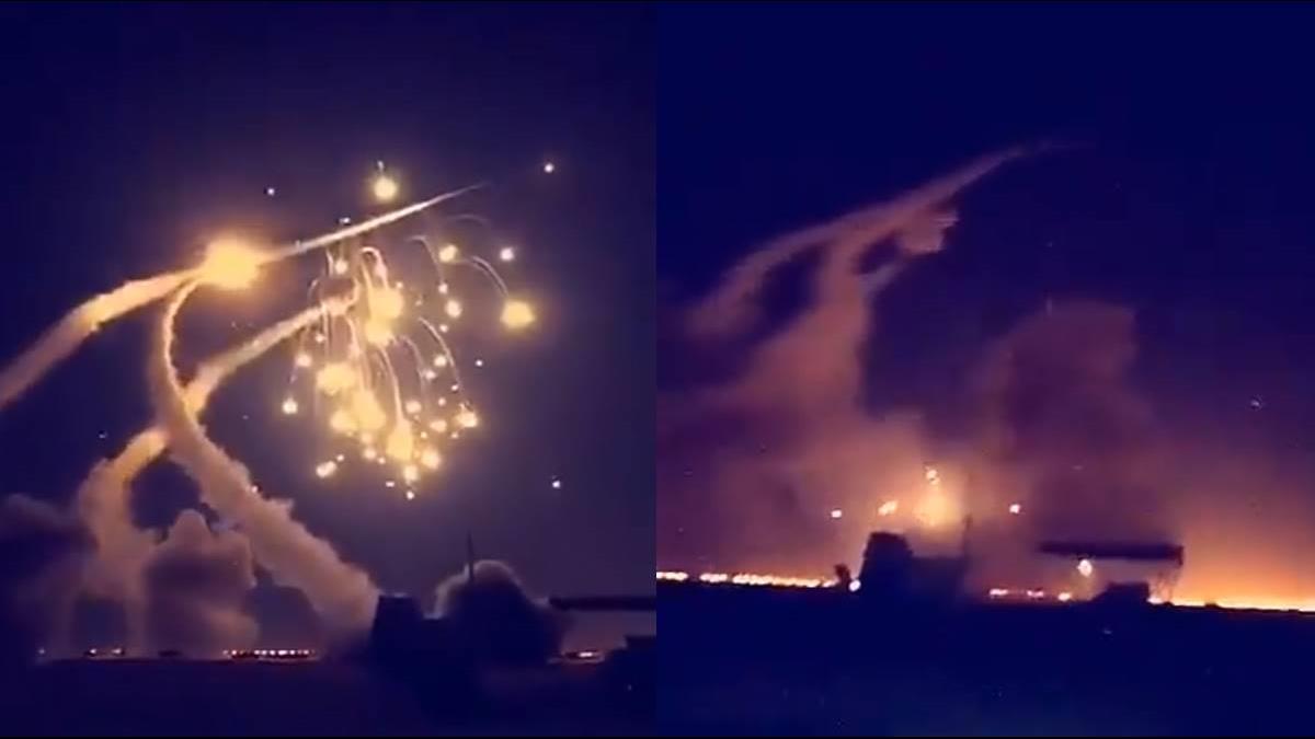 影片曝光!7發飛彈空襲大城市 沙國緊急發射愛國者飛彈全部攔下