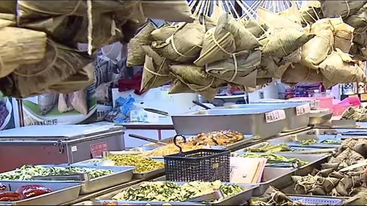 粽子名攤林立 南門市場飄濃濃端午味