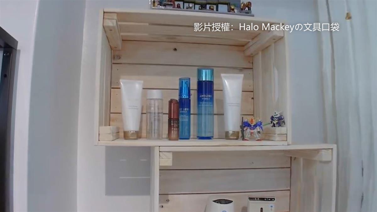 女孩2個巧思動手作 菜籃變日系簡潔收納櫃