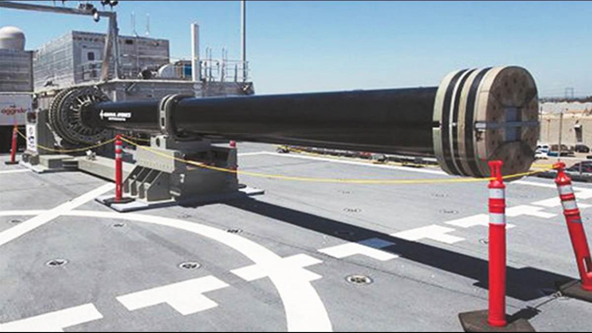 美國情報:陸海軍正在測試電磁砲 射程近200公里