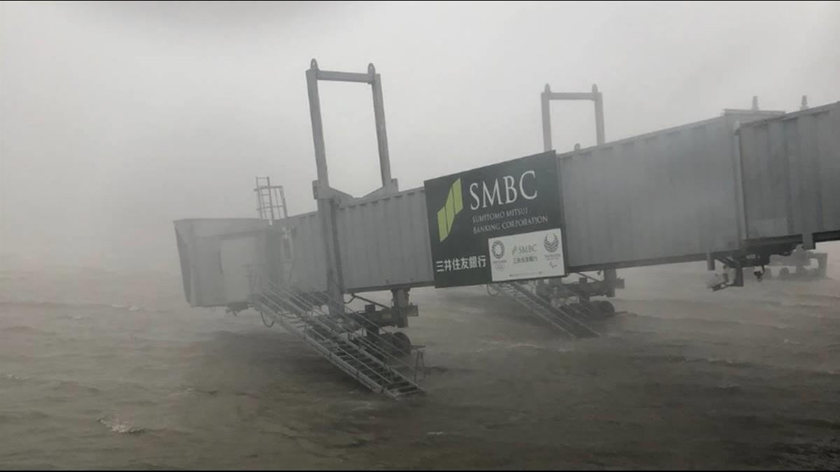 25年最強颱燕子襲日!關西機場暫時關閉、豐田取消夜班