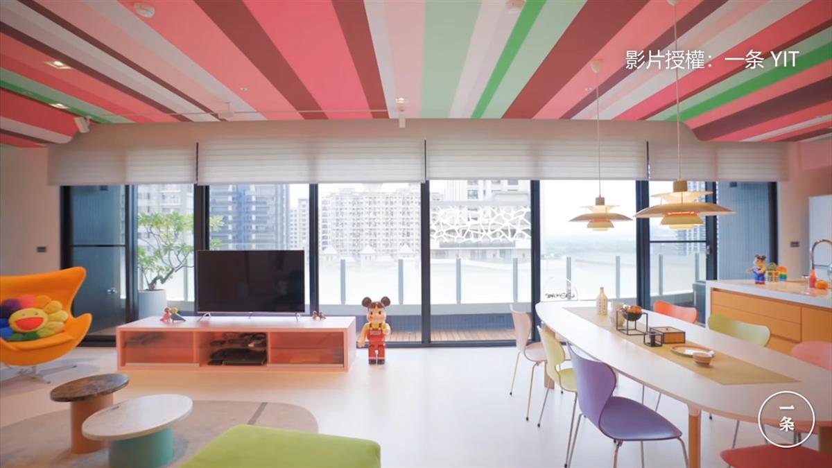 繽紛不俗氣!她花4年改造 「20種顏色的家」甩工作束縛