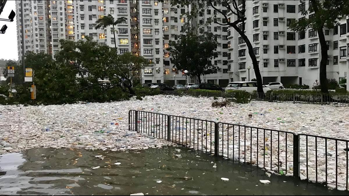 大自然逆襲? 山竹替海洋吹回「垃圾浪」還給人類