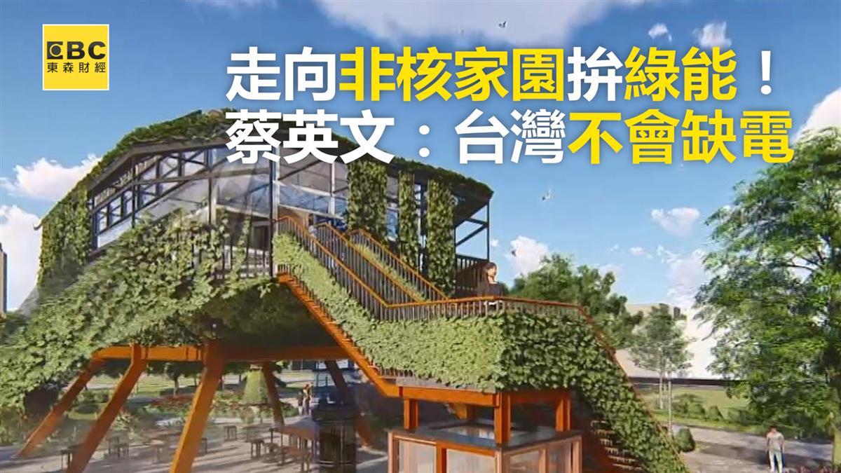 走向非核家園拚綠能! 蔡英文:台灣不會缺電