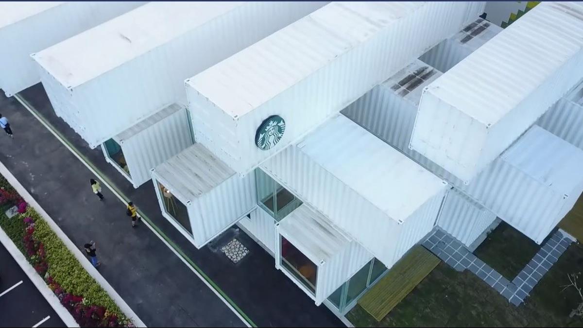 全台最美!「貨櫃屋星巴克」開幕 內裝第一視角公開