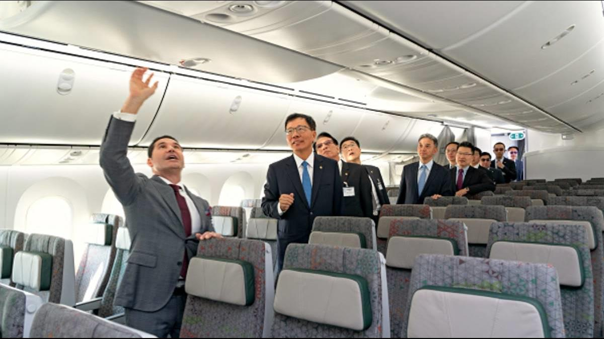 全台首架!長榮波音787夢幻客機豪華機艙曝光