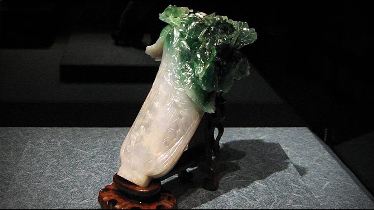 人氣國寶「翠玉白菜」僅投保5.5億 身價不如高更畫?