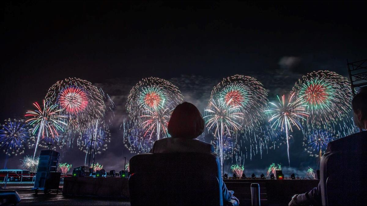 國慶焰火璀璨花蓮夜空 蔡總統:重視支持東部發展
