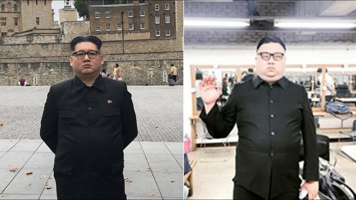 模仿金正恩1天賺40萬!分身撂話「北韓不敢怎樣」