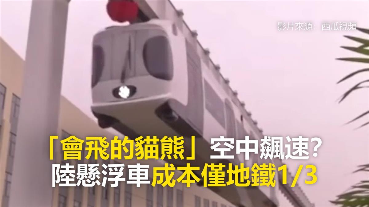 「會飛的貓熊」空中飆速? 陸懸浮車成本僅地鐵1/3
