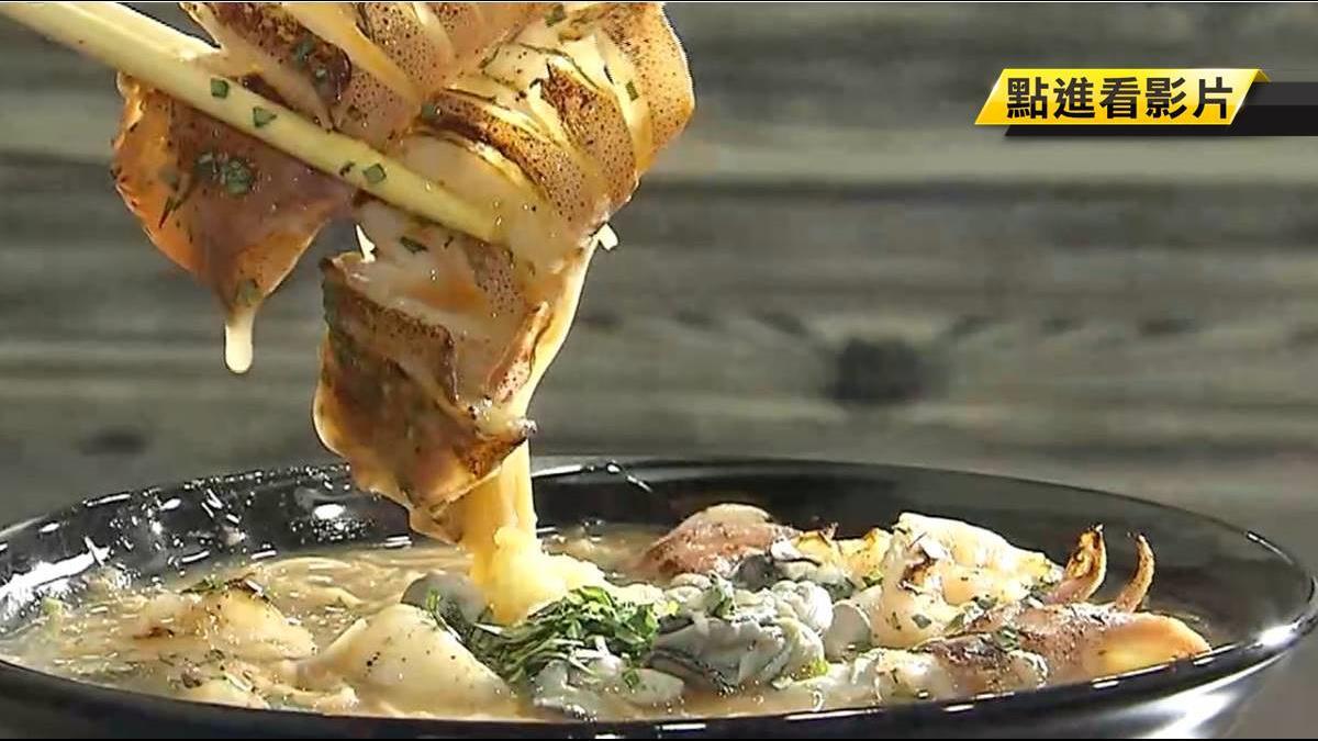 創意海底麵線 銅板價擺滿3種海鮮