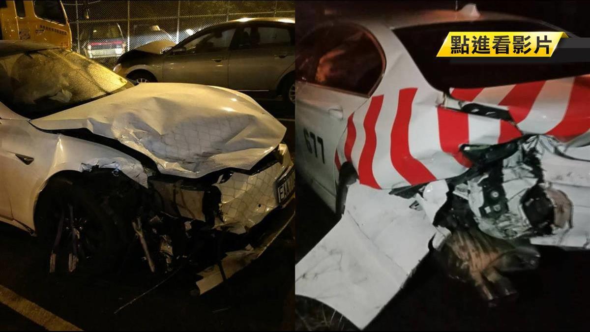 特斯拉自駕車釀禍 疑無法辨識三角錐