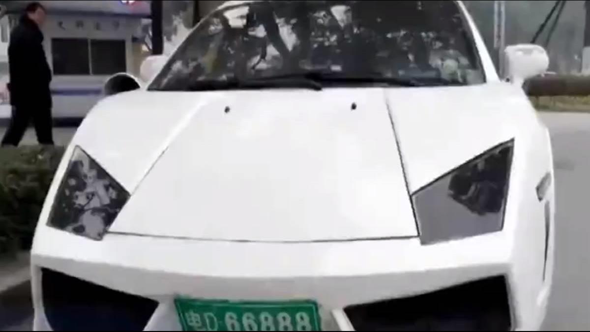 他14萬網購「迷你藍寶堅尼」上路就被罰!網:玩具車?