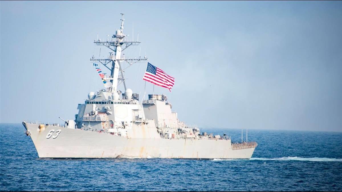 不顧北京反對!美證實又派2軍艦穿越台灣海峽