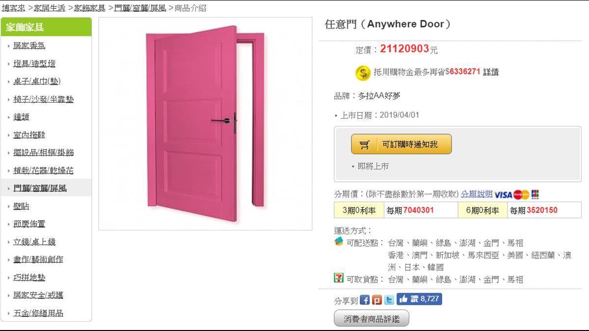 哆啦A夢任意門、竹蜻蜓開賣!「這款」爆單急下架