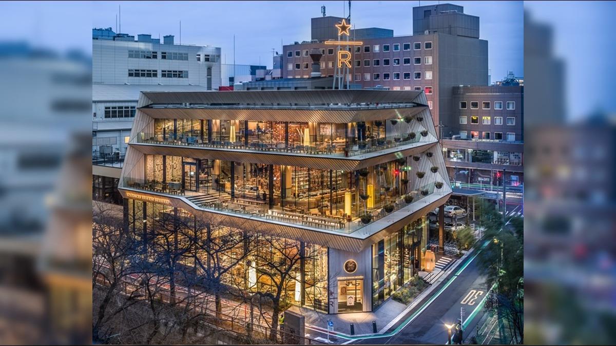 巨型烘豆機貫穿4層樓!全球最大星巴克坐落這城市