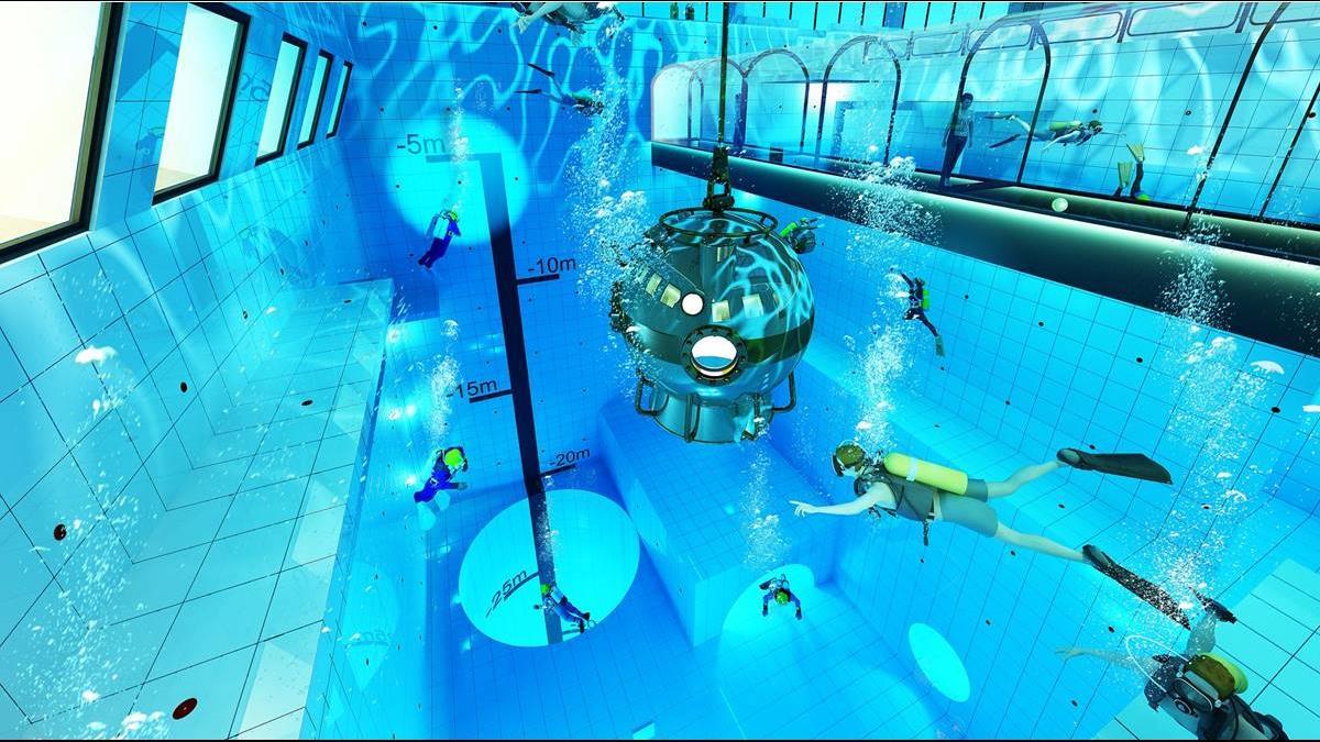 你敢跳嗎?這國推水深達15層樓泳池挑戰世界最深