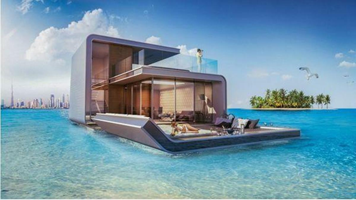 海景第一排不夠看?超狂土豪直接在海上蓋豪宅