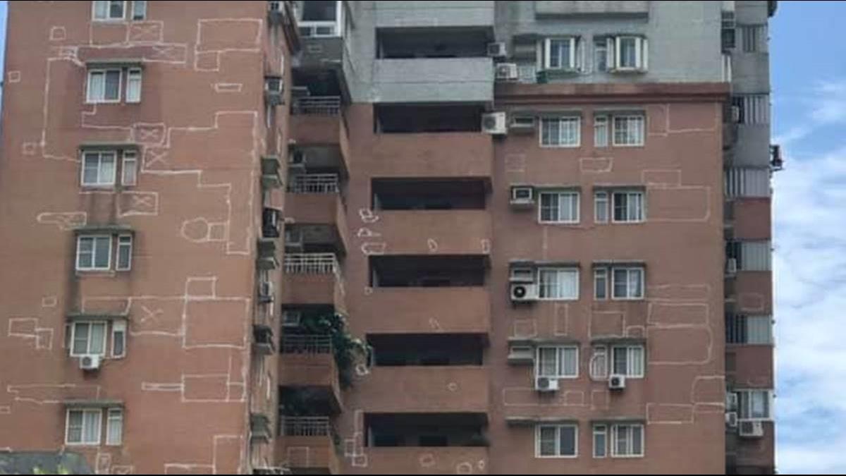 外星人入侵? 淡水18層樓現神秘塗鴉原因嚇人