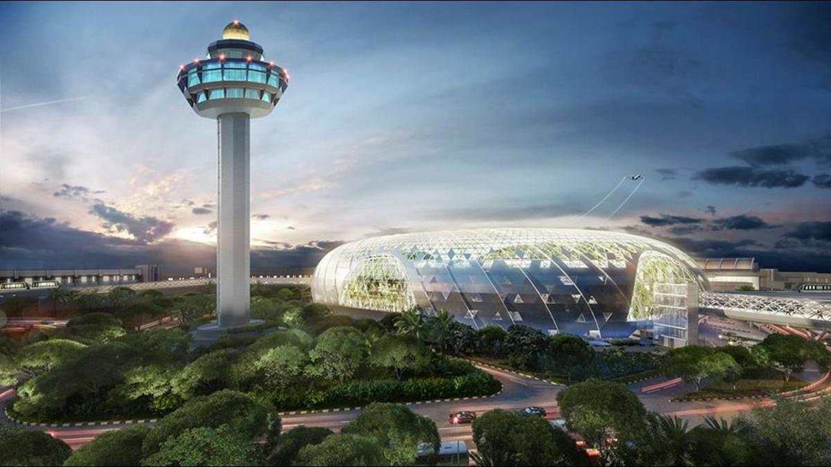 耗資388億!全球最酷機場如森林擁最高室內瀑布