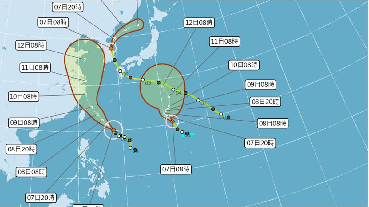 利奇馬直逼!明後天最靠近 可能颱風假時間曝