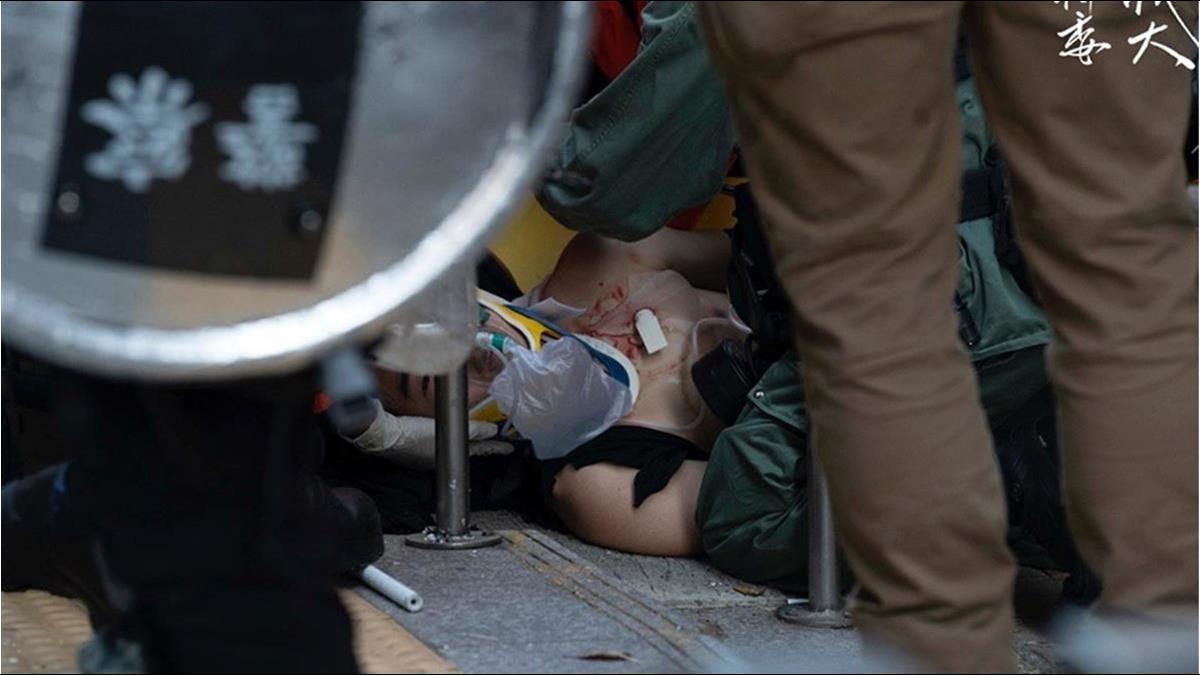 反送中學生遭槍擊!國際強烈譴責港警行為不當