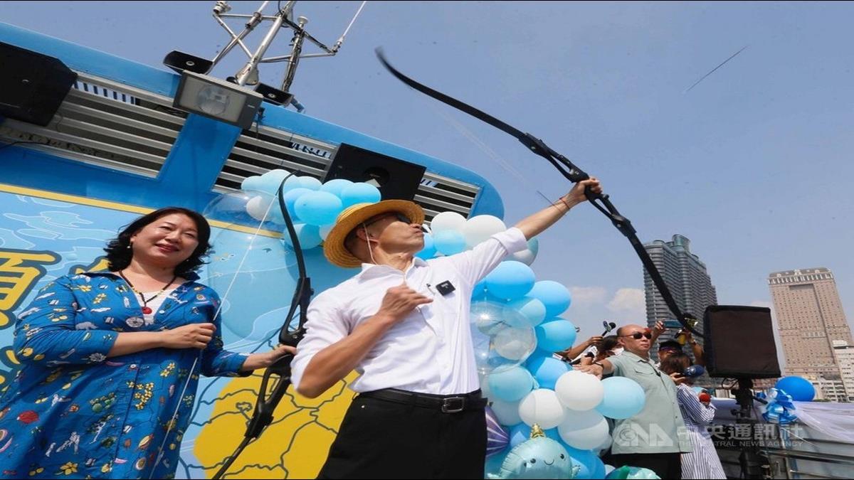 總統大選決戰百日!韓國瑜化身魯夫射穿雲箭搶青年票