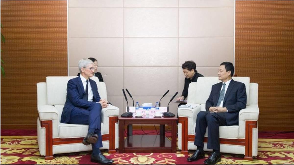 拿掉我國國旗圖示後 庫克訪北京談擴大投資