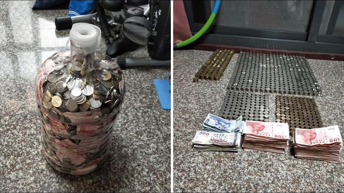 超狂水桶存錢法!男每天下班掏口袋 2年爽存6位數年終