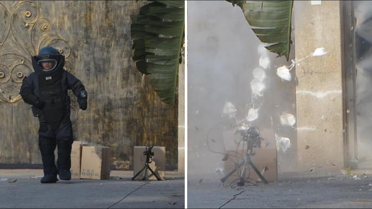 陸駐大馬領事館疑遭放爆裂物? 引爆驚見「N95」滿天紛飛
