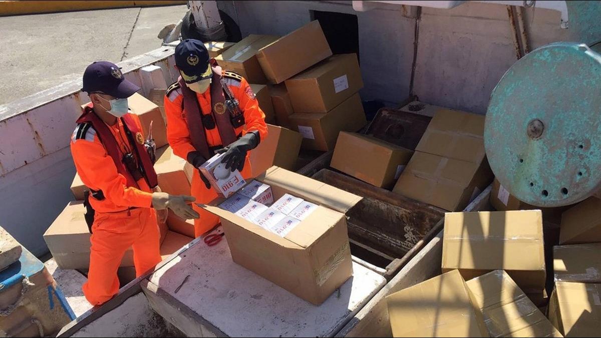 走私謀暴利? 漁船偷渡7萬個N95口罩 海巡當場人贓俱獲