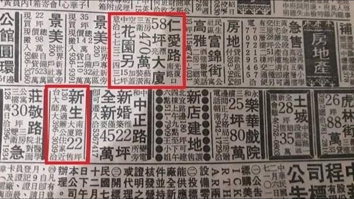 民國70年代報紙曝「58坪大廈僅470萬」 網嘆:生錯時代
